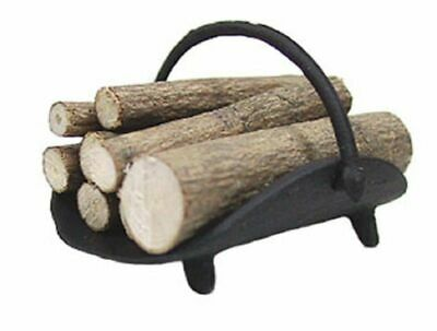 Brass #IM65424 Dollhouse Miniatures 1:12 Scale Log Holder without Logs