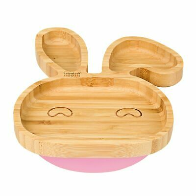 Baby Toddler Stay Put Bunny Suction Plate, Suction Stay Put Feeding Plate, Natur