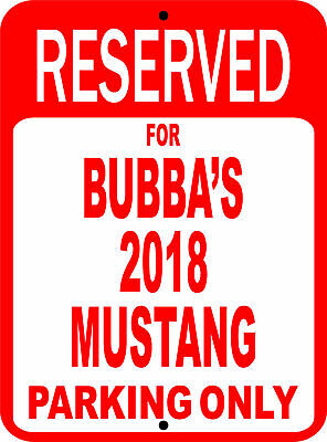 """1994 94 Mustang Ford Novelty Reserved Parking Street Sign 9/""""X12 Aluminum/"""""""