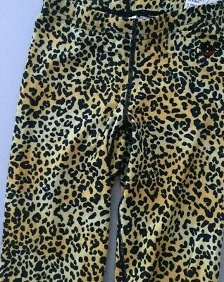 Hot Chillys Youth Girl's Ankle Tight, Cheetah Print NEW