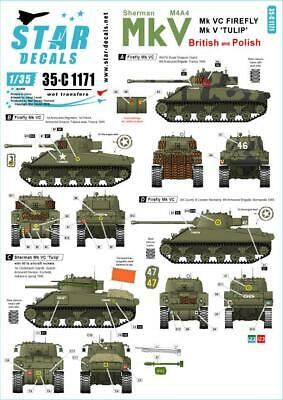 Star Decals 1//35 Sherman Mk III Early7late production in 1943 35C1170