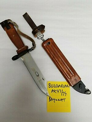 Bulgarian  Bayonet With Scabbard With Leather Frog. Matching Number.