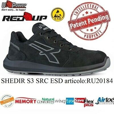 Upower Scarpe Lavoro Antinfortunistica Shedir S3 Src Esd U-Power Ru20184 Red Up