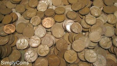 (1000) San Francisco S Mint Lincoln Wheat Pennies Cents 20 Penny Rolls Coin Lot