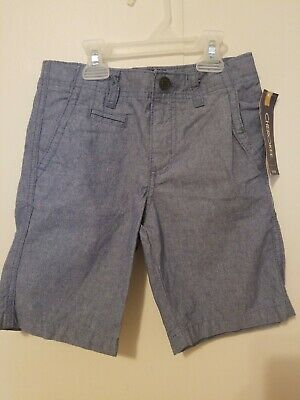 Cherokee Light Jean Boys Flat Front Blue Chambray Shorts Size 7 NWT
