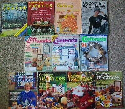 Crafts Magazine Lot Creative Craftworks Crafting Traditions Miniatures Dolls