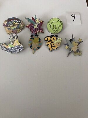 Disney Collectible Trading Pins. 7 Piece Tinkerbell