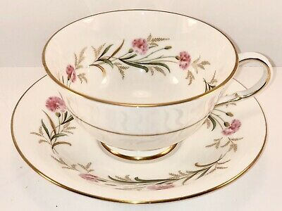 Paragon Fine Bone chona Teacup And Saucer Camelot, Ivory With Pink Flowers
