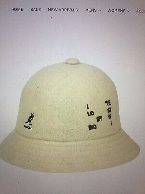 kangol bucket hat Word Casual Off White/black Size L