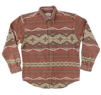 "VTG The Territory Ahead Men Large 44"" Long Sleeve Button Shirt Native Southwest"