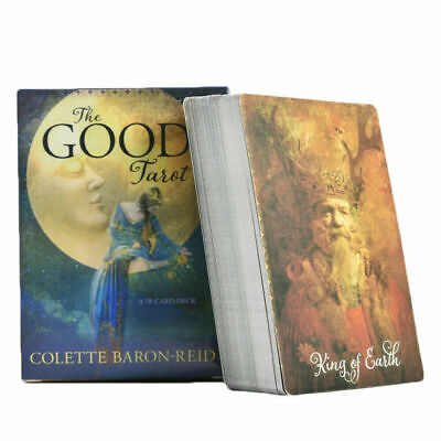 Good Tarot Deck 78 and Book Cardet Baron - Reed Board Game Cards (Color Box) New