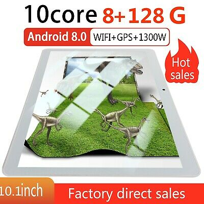 "10.1"" para la tableta de Android 8.0 Tablet PC 8GB + 128GB Ten-Core WIFI 13.0MP"