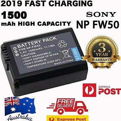 OEM NP-FW50 Battery for SONY Alpha A5000,A5100,A6000,A6300,A6500 FAST CHARGING