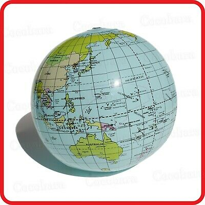 Inflatable Blow-Up Toy-Terrestrial Globe Earth World Map-Geography Education
