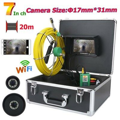 WiFi Wireless17mm Industrial Pipe Sewer Inspection Video recording Camera System