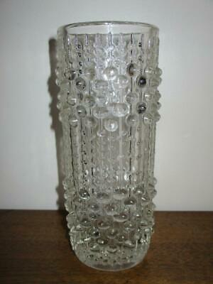 Vintage 1970's Retro Czech Sklo Union 'CANDLE WAX' Art Glass Vase