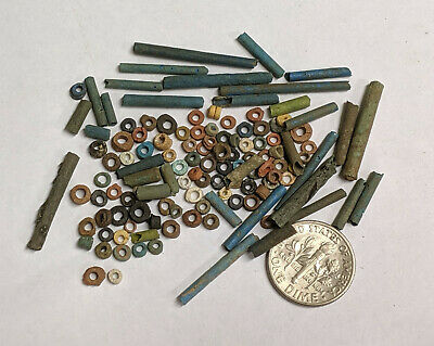 More than a Hundred 2500 Year old Ancient Egyptian Faience Mummy Beads (#L983)