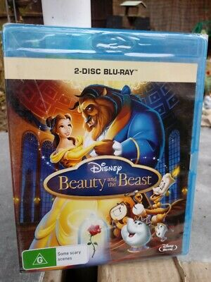 Beauty and the Beast (1991) (2-Disc Blu-ray)  NEW/SEALED  Region FREE