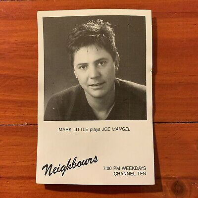 Neighbours vintage TV Fan Card 1980s Joe Mangel Mark Little 1989 1990 Soap