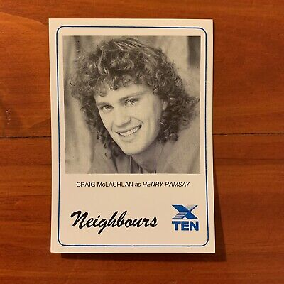 Neighbours vintage TV Fan Card Henry Ramsay Craig Mcglachlan 1988 80s Kylie
