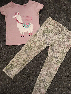 I Am A Lamacorn Unicorn Lama Girls Cute Outfit Top And Jeans Age 2-3 Years