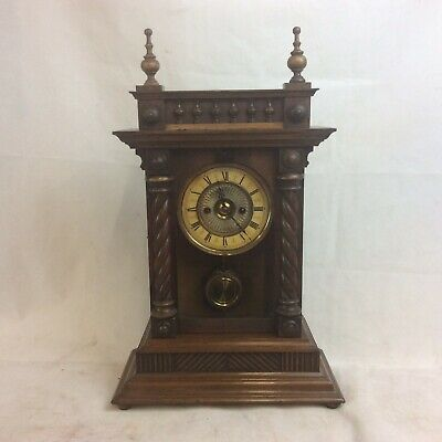 Impressive Vintage German Mantle Clock. Made In Wurttemberg. Requires Attention
