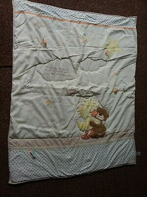 Little Suzy's Zoo -  Baby - Cream/Caramel Coloured Cot Quilt - 4 Tog