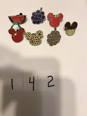 Disney Collectible Trading Pins. 7 Piece Berries Fruit