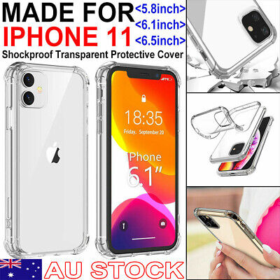 【Shockproof】iPhone 11/Pro/Max Clear Case Bumper Crystal Slim Cover Silicone TPU