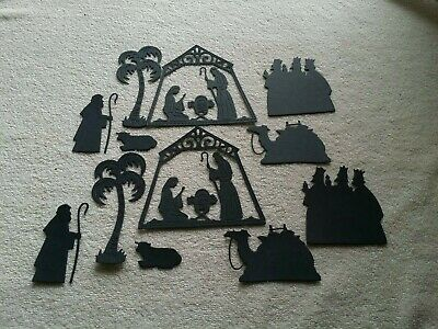 Nativity scene die cuts for cards or scrapbook 12 pieces