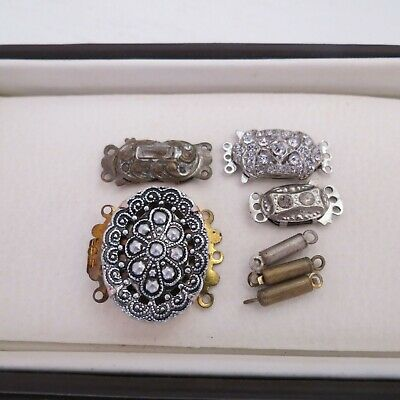 Mixed lot of vintage clasps harvested from old necklaces x 7#2