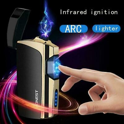 USB Electric Flameless Smart Touch Rechargeable Windproof Cigarette Lighter J2P4