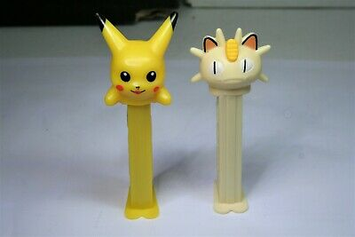 Pikachu and Meowth Pez Dispensers