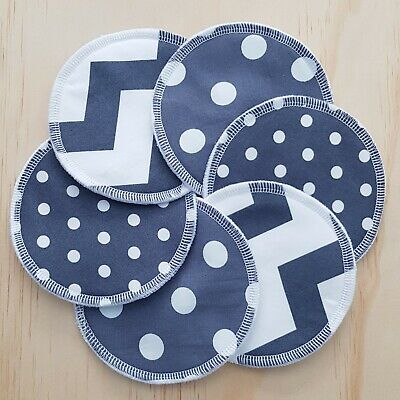 Reusable Washable Nursing Pads, set of 3, Dark Grey