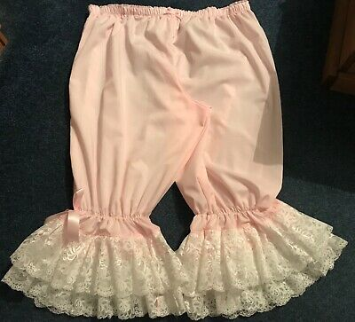 Pink poly-cotton can-can outfit, bloomers and top
