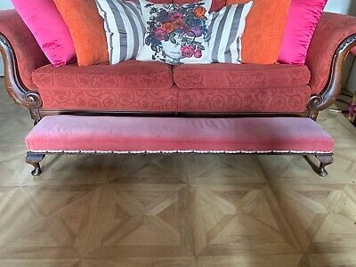 Early 20thC Antique Long Footstool / Fender Stool