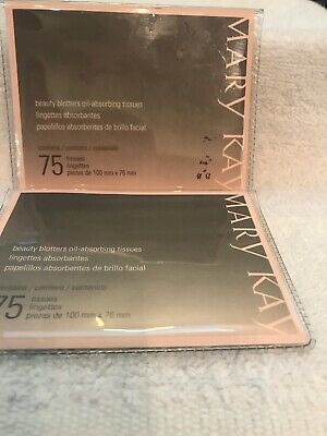 Mary Kay Beauty Blotters Oil-Absorbing Tissues LOT OF 2 NIB Removes Excess Oil
