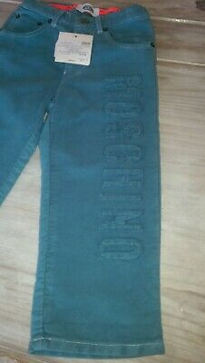 SAVE£30 New Moschino Designer boy airforce blue trousers Rrp£59.99 2yrs BNWT
