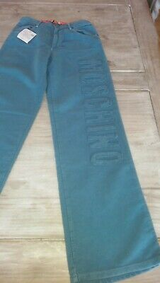 SAVE£40 New Moschino Designer boy airforce blue trousers Rrp£74.99 10/11yrs BNWT
