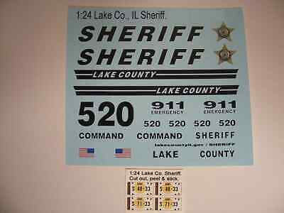 St Lucie FL Sheriff 1//43 Water slide Decals For Motormax Police SUV