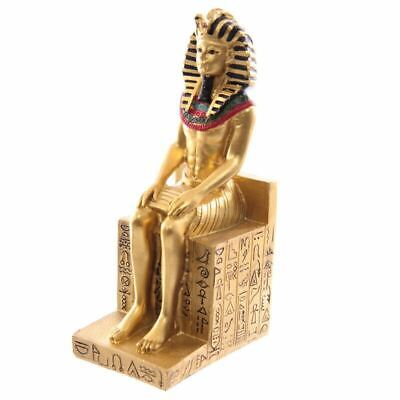 Decorative Gold Egyptian Seated Ramases Figurine Statue Ornament