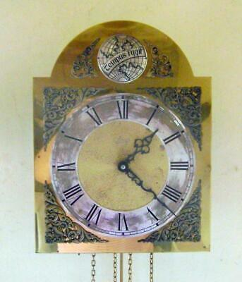 German Schatz & Sohne Brass Dial Wall Clock with Ting Tang Quarter Chimes