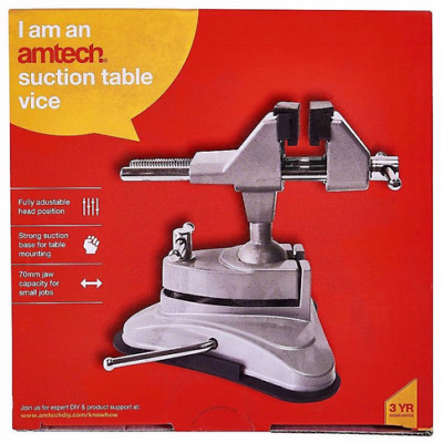 SUCTION TABLE VICE CLAMP GREAT FOR CRAFT HOBBYS ELECTRONICS 360 DEGREE SWIVEL uk