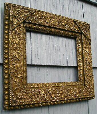 Unique Antique Aesthetic Eastlake Victorian Ornate Picture Frame holds 8 x 10