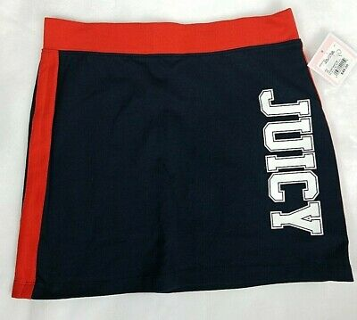 Juicy Couture Girls Navy Blue and Red Skirt Size 10 Black Label