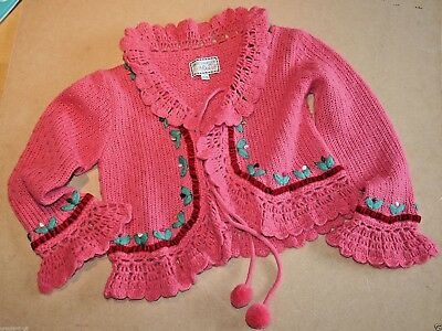 My Doll Pink Cardigan & Tartan Skirt Set Size 6 Years Fabulous Superbe Condition