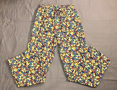 M&Ms Drawstring Lounge Pants Scrubs Licensed Chocolate Candy Unisex Size S Small