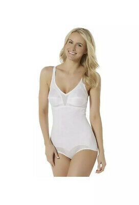 Fundamentals Women's Body Briefer Extra Firm Control Nwts Super Slim White 44D