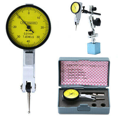 Magnetic Base Holder Stand w/ Dial Test Indicator Gauge Scale Precision  uk
