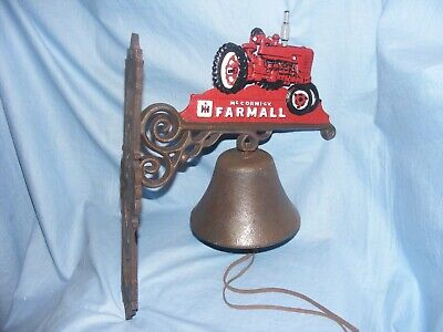 Farmall Tractor Cast Iron Bell Heavy Garden Man Cave Shed Farm McCormick